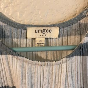 Umgee Tops - Umgee Cold Shoulder Pleated Top